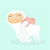 Cute yeti. Cute yeti on pastel background Royalty Free Stock Images