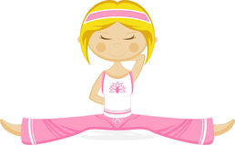 Cute Yoga Girl Stock Photography