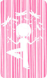 Cute Yoga Girl with Dragonflies. Adorably Cute Cartoon Yoga Girl Illustration with Dragonflies in Silhouette - Vector Illustration.  An EPS file is also Stock Photography