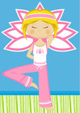 Cute Yoga Girl Royalty Free Stock Photography