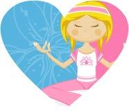 Cute Yoga Girl Stock Image