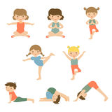 Cute yoga kids Stock Images