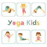 Cute yoga kids Stock Photo