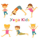 Cute yoga kids Royalty Free Stock Images