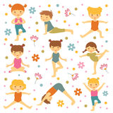 Cute yoga kids Royalty Free Stock Photography