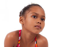 Cute young African Asian girl Stock Photo