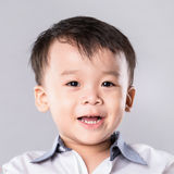 Cute young asian boy with great smile isolated Royalty Free Stock Photo