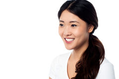 Cute young asian female model Royalty Free Stock Photography