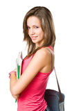 Cute young attractive student. Stock Images