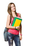 Cute young attractive student. Royalty Free Stock Photo