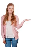 Cute young attractive student girl Stock Image