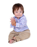 Cute young baby boy Stock Images