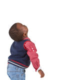 Cute young black boy looking royalty free stock photo