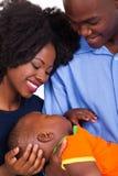 Black couple baby Stock Photo