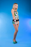 Cute young blond girl in studio Stock Photography