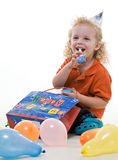 Cute young blond toddler jewish boy Royalty Free Stock Photos