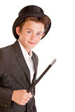 Cute young boy dressed as a magician Stock Images