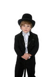 Cute Young Boy In Tuxedo And Top Hat Stock Images