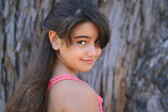 Cute young brunette girl Royalty Free Stock Photo