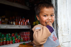Cute young Burmese boy in Chin State Royalty Free Stock Photography