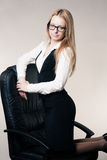 Cute young business lady Royalty Free Stock Photography