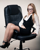 Cute young business lady Stock Images