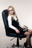 Cute young business lady Royalty Free Stock Photo