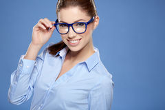 Cute young business woman Stock Photography