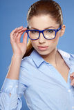 Cute young business woman Royalty Free Stock Photography