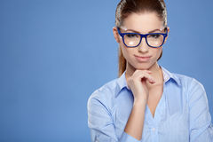 Cute young business woman royalty free stock photo