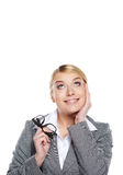 Cute young business woman Stock Photo
