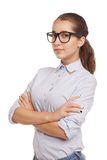 Cute young business woman with glasses Royalty Free Stock Photo