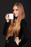 Cute young business woman Royalty Free Stock Image