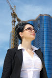 Cute young businesswoman Stock Photos