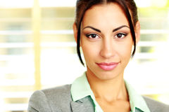 Cute young businesswoman Stock Images