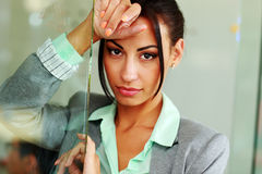 Cute young businesswoman Stock Photography