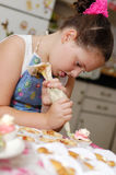 Cute young chef stock photos