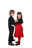 Cute young children dancing Stock Photo