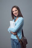 Cute young college student Royalty Free Stock Images