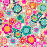 Cute young color floral Royalty Free Stock Images
