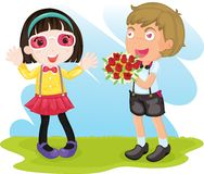 Cute young couple Royalty Free Stock Photos