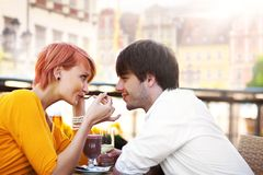 Cute young couple Stock Photo