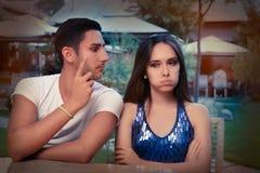 Cute Young Couple Arguing Stock Photos