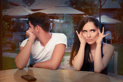 Cute Young Couple Arguing Royalty Free Stock Photo