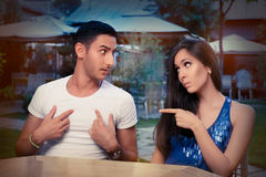 Cute Young Couple Arguing Royalty Free Stock Image