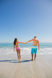 Cute young couple having holidays together Stock Image