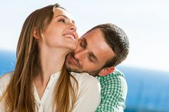 Cute young couple hugging. Stock Photography