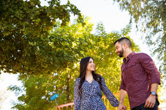 Cute young couple in love Royalty Free Stock Photos