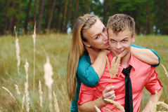 Cute young couple outdoor Stock Photography
