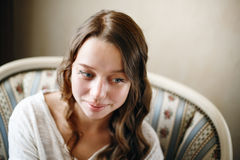 Cute Young Female Headshot Royalty Free Stock Photos